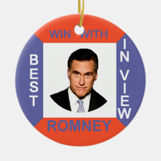 ROMNEY Retro Christmas Ornament