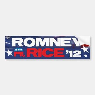 Romney Rice 2012 Bumper Sticker