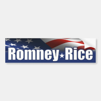 Romney Rice 2012 Car Bumper Sticker