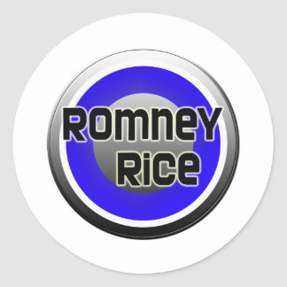 Romney Rice 2012 Classic Round Sticker