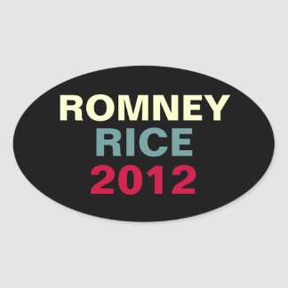 Romney Rice 2012 Oval Campaing Sticker