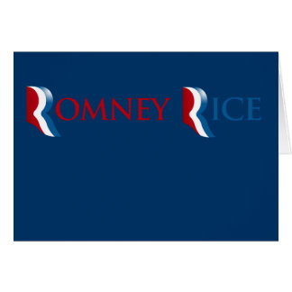 ROMNEY RICE R LOGO.png Greeting Card