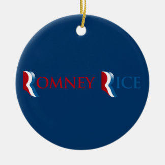 ROMNEY RICE R LOGO.png Christmas Tree Ornaments
