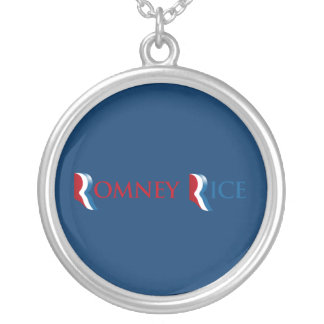 ROMNEY RICE R LOGO.png Round Pendant Necklace