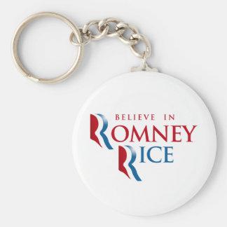 ROMNEY RICE VP BELIEVE png Key Chain