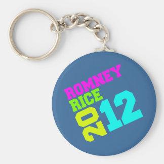 ROMNEY RICE VP NEON COLLEGIATE png Keychain