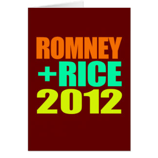 ROMNEY RICE VP NEON IMPACT.png Greeting Card