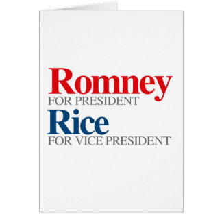 ROMNEY RICE VP PICK.png Greeting Card