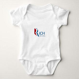 Romney - Rich get richer Baby Bodysuit