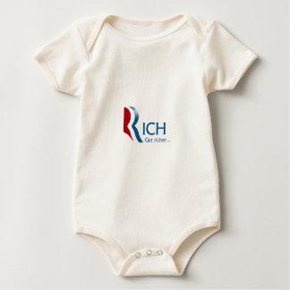 Romney - Rich get richer Baby Bodysuits