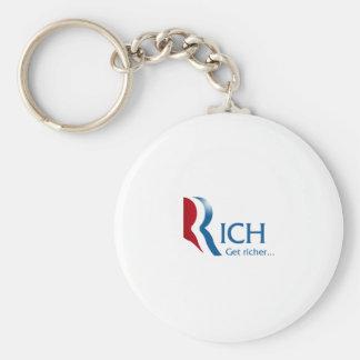 Romney - Rich get richer Basic Round Button Keychain