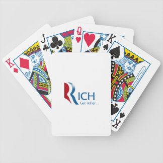 Romney - Rich get richer Bicycle Playing Cards