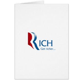 Romney - Rich get richer Card