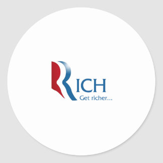 Romney - Rich get richer Classic Round Sticker