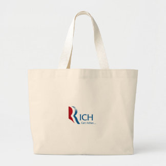 Romney - Rich get richer Large Tote Bag