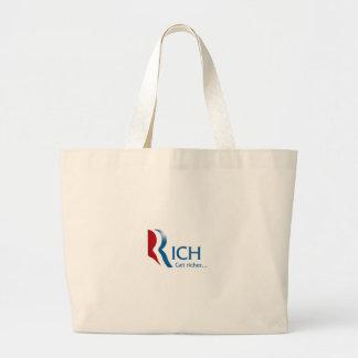 Romney - Rich get richer Large Tote Bag
