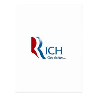 Romney - Rich get richer Postcard