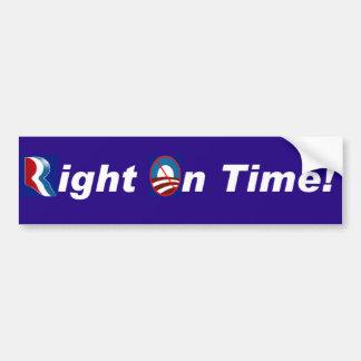 Romney Right on Time Car Bumper Sticker