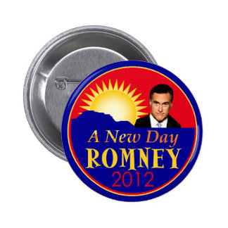 Romney RNC New Day Pinback Button