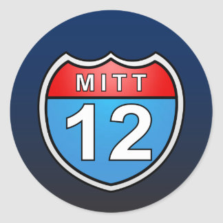 Romney Road to the White House Classic Round Sticker