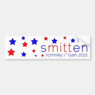 Romney rojo, blanco, y azul de la pegatina para el pegatina para auto