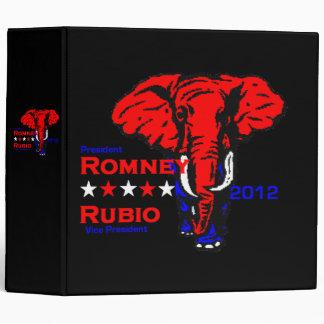 Romney Rubio 2012 Avery Binder