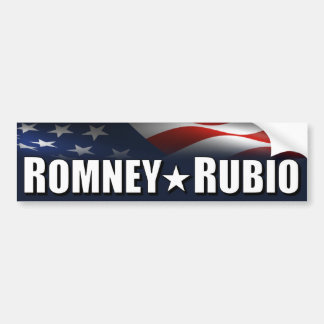 Romney - Rubio - 2012 Car Bumper Sticker
