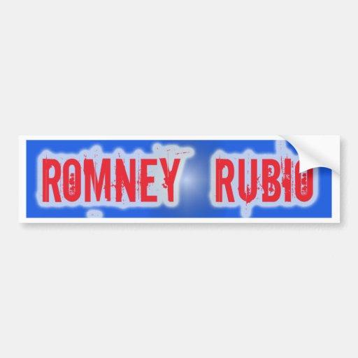 Romney Rubio 2012 Bumper Sticker Car Bumper Sticker