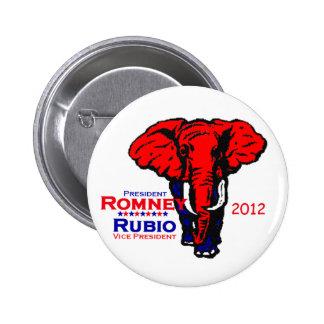 Romney Rubio 2012 Button