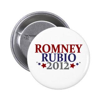Romney Rubio 2012 Pinback Button