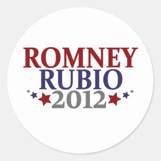 Romney Rubio 2012 Etiquetas Redondas