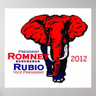 Romney Rubio 2012 POSTER Print