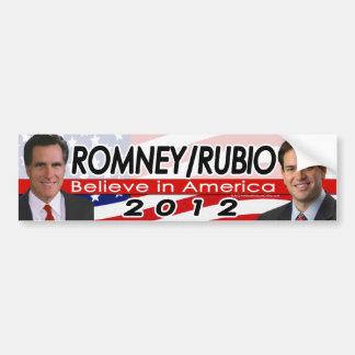 Romney/Rubio 2012 Republican Presidential Election Car Bumper Sticker