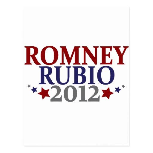 Romney Rubio 2012 Tarjeta Postal