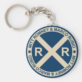 Romney Rubio American Crossroads Basic Round Button Keychain
