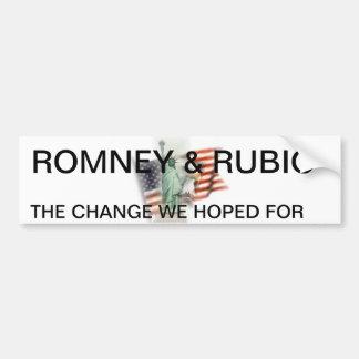 ROMNEY/RUBIO BUMPER STICKER 2012