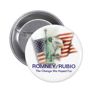 Romney Rubio Election 2012 Campaign Button