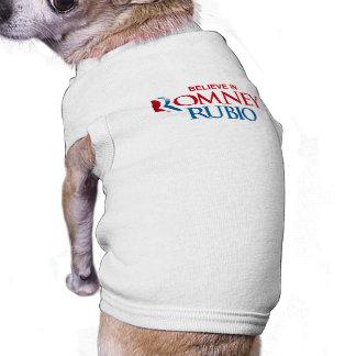 ROMNEY RUBIO VP BELIEVE png Camiseta De Perrito