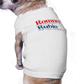 ROMNEY RUBIO VP PICK png Camisetas Mascota