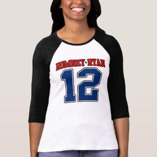 Romney/Ryan '12, diseño del deporte del equipo uni Tee Shirts