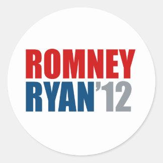 ROMNEY RYAN 12.png Classic Round Sticker