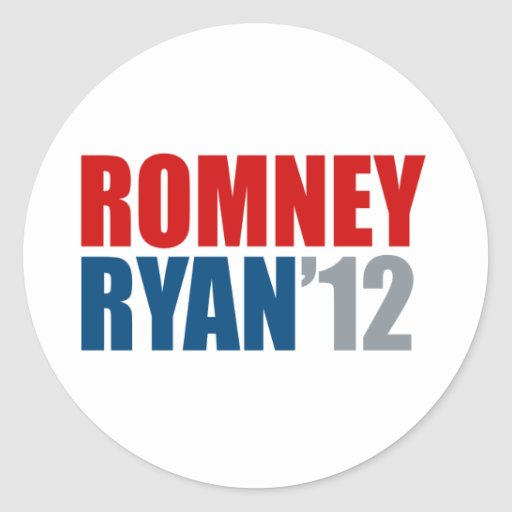ROMNEY RYAN 12.png Classic Round Sticker