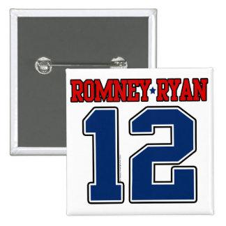 Romney Ryan 12, Sporty Varsity 2 Inch Square Button