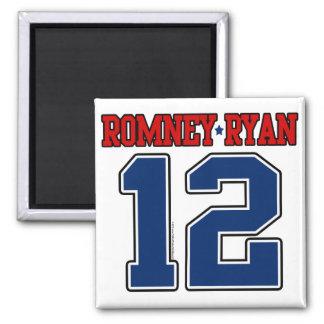 Romney Ryan 12, Sporty Varsity 2 Inch Square Magnet