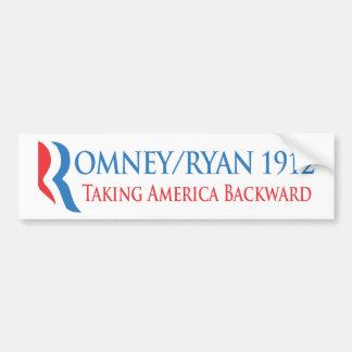 Romney/Ryan 1912 - Taking America Backward Bumper Sticker