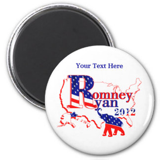 Romney Ryan 2012 - A Winning Team For The People 2 Inch Round Magnet