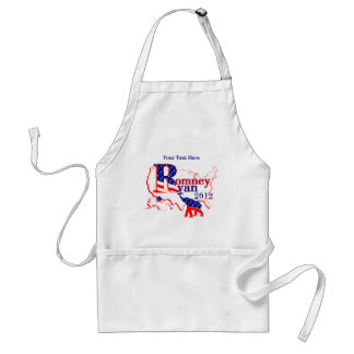 Romney Ryan 2012 - A Winning Team For The People Adult Apron