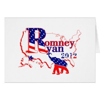 Romney Ryan 2012 - A Winning Team For The People Card