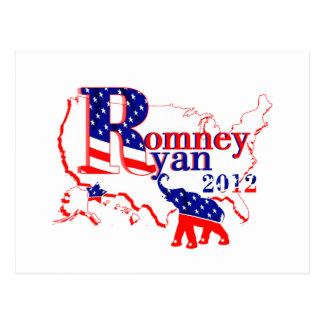 Romney Ryan 2012 - A Winning Team For The People Postcard