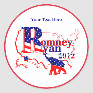Romney Ryan 2012 - A Winning Team For The People Classic Round Sticker